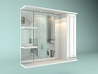 Шкаф навесной с зеркалом Рубин 850 мм 1 дверь + 2 полки, фото 1