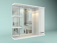 Шкаф навесной с зеркалом Троя 700 мм 1 дверь + 2 полки