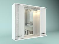 Шкаф навесной с зеркалом Троя 850 мм 2 двери