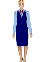 Классический женский жакет с юбкой
