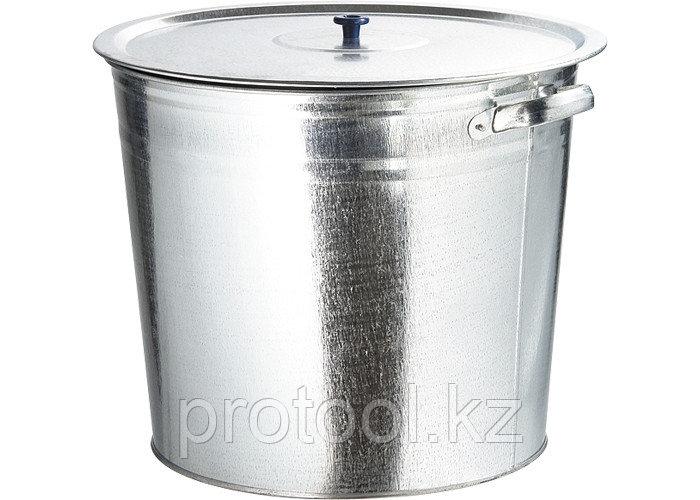 Бак для воды оцинкованный с крышкой (крышка с ручкой) 32л, без крана// Россия