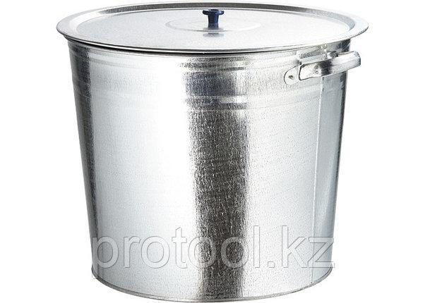 Бак для воды оцинкованный с крышкой (крышка с ручкой) 32л, без крана// Россия, фото 2