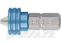 Бита PH 2x25 мм с ограничителем и магнитом, для ГКЛ, S2//Gross