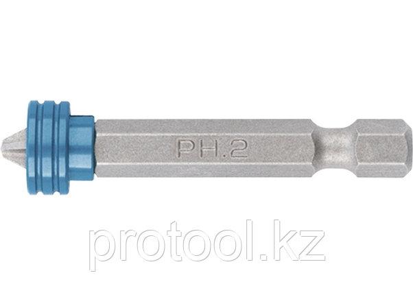 Бита PH 2x50 мм с ограничителем и магнитом, для ГКЛ, S2//Gross, фото 2