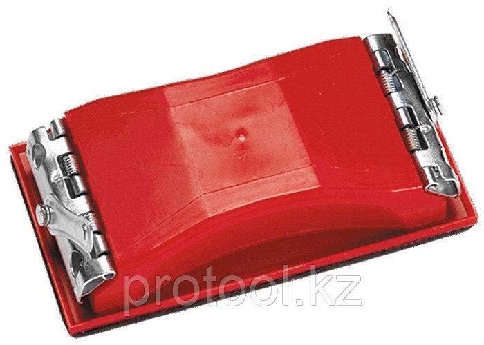 Брусок для шлифования, 160 х 85 мм, пластиковый с зажимами// MATRIX
