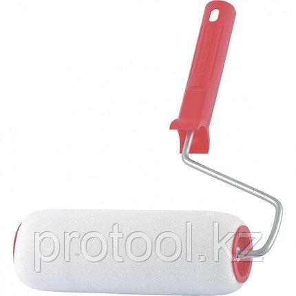 """Валик """"Поролон"""", в сборе, 200 мм, D – 48 мм, D ручки – 6 мм, крепление шплинтом // Сибртех, фото 2"""