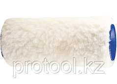 Валик сменный из натурального меха , 100 мм, ворс 12 мм, D - 48 мм, D ручки - 6 мм// СИБРТЕХ/Россия