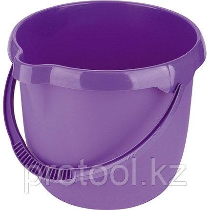 Ведро пластмассовое круглое 12л, фиолетовое //ТМ Elfe /Россия, фото 2