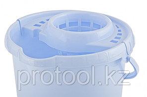 Ведро пластмассовое круглое с отжимом 12л, сиреневое //ТМ Elfe /Россия, фото 2