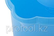Ведро пластмассовое круглое с отжимом 9л, голубое //ТМ Elfe /Россия, фото 3