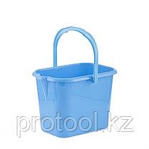 Ведро пластмассовое прямоугольное 16л, голубое//ТМ Elfe light /Россия, фото 2