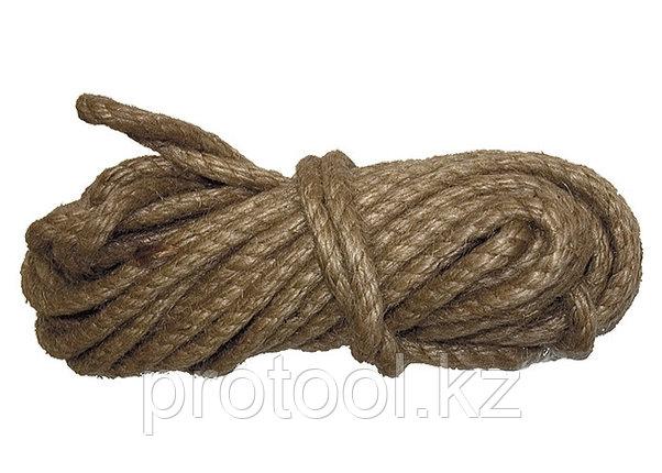 Веревка джутовая, L 10 м, крученая, D 8 мм// СИБРТЕХ//Россия, фото 2