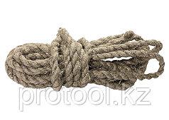 Веревка льнопеньковая, D 12 мм, L 10 м, крученая// СИБРТЕХ//Россия