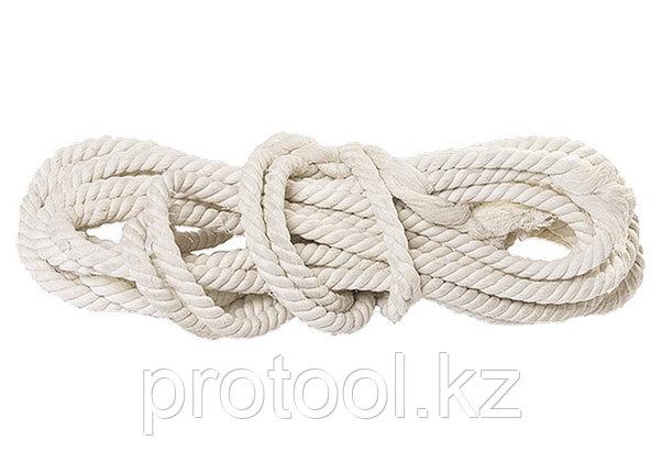 Веревка х/б, D 10 мм, L 11 м, крученая, 211 кгс// СИБРТЕХ//Россия, фото 2