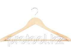 Вешалка деревянная для верхней одежды с антискользящей перекладиной //ТМ Elfe