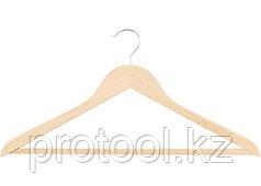 Вешалка деревянная для одежды с антискользящей рифленой перекладиной//ТМ Elfe