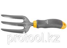 Вилка посадочная 3-зубая, эргономичная двухкомпонентная рукоятка// PALISAD LUXE
