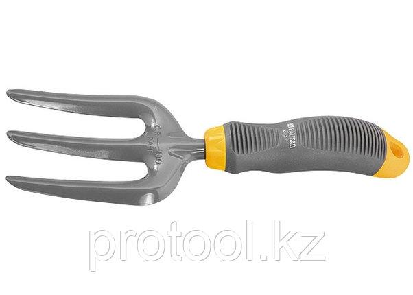 Вилка посадочная 3-зубая, эргономичная двухкомпонентная рукоятка// PALISAD LUXE, фото 2