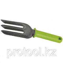 Вилка посадочная 3-зубая, защитное покрытие, пластиковая рукоятка// PALISAD