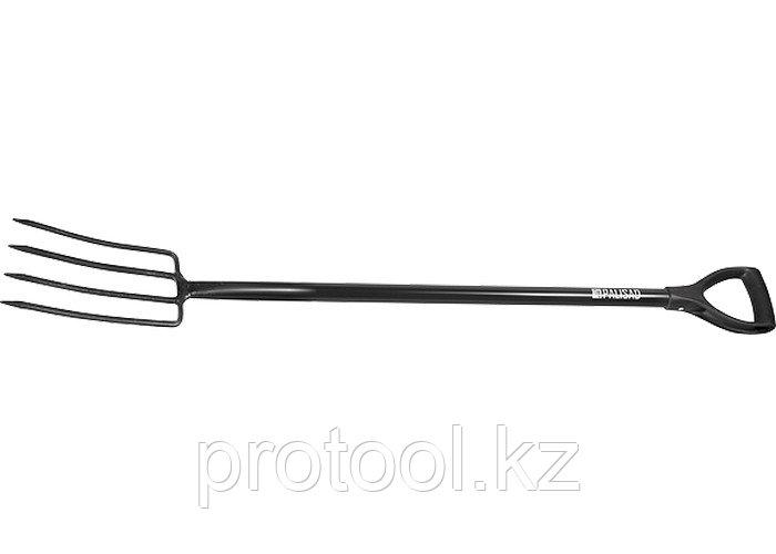 Вилы 4-х-рогие, 200 х 300 х 1180 металлический черенок //PALISAD