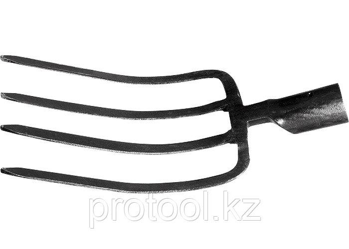 Вилы 4-х-рогие, 175 х 275 мм, без черенка, садово-огородные // СИБРТЕХ
