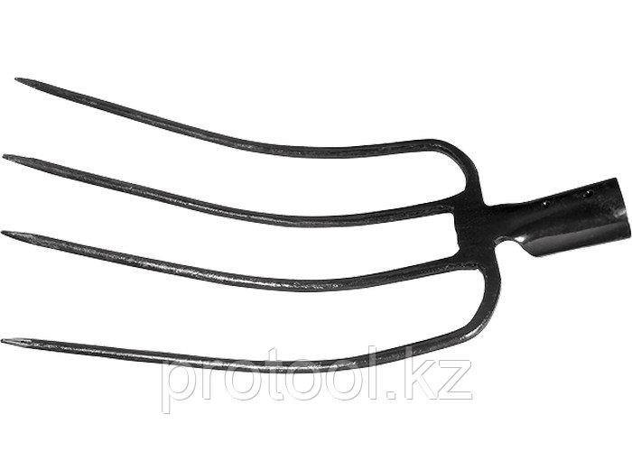 Вилы 4-х-рогие, 235 х 330 мм, без черенка сенные// СИБРТЕХ