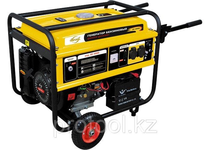 Генератор бензиновый GE 4500Е, 4,5 кВт, 220В/50Гц, 25 л, электростартер// DENZEL
