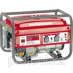 Генератор бензиновый KB 2500, 2,4 кВт, 220В/50Гц, 15 л, ручной старт// KRONWERK