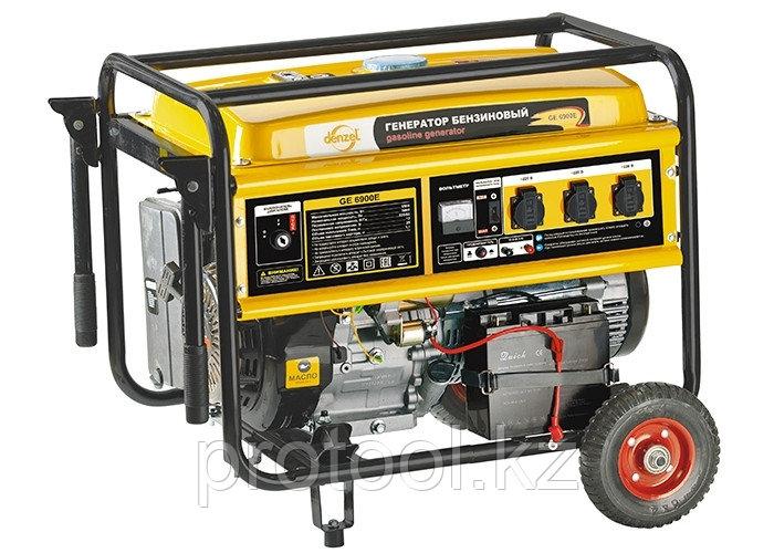 Генератор бензиновый GE 6900E, 5,5 кВт, 220В/50Гц, 25 л, электростартер// DENZEL