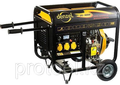 Генератор дизельный DD5800Е, 5 кВт, 220В/50Гц, 12.5 л, электростартер// DENZEL, фото 2