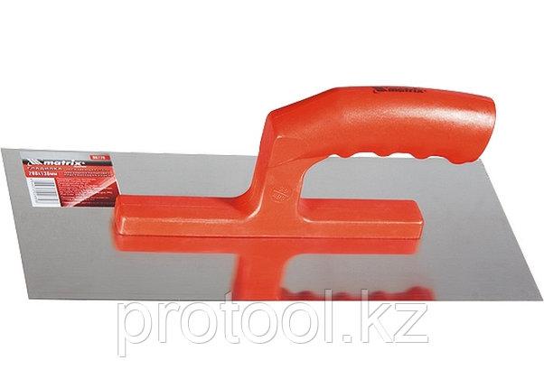Гладилка из нерж. стали, 280 х 130 мм, зеркальная полировка, пластмас. ручка// MATRIX, фото 2