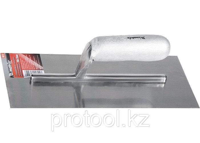 Гладилка стальная, 280 х 130 мм, зеркальная полировка, деревянная ручка// MATRIX