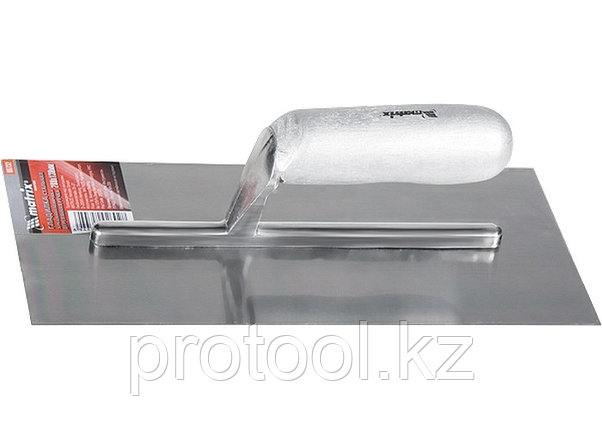 Гладилка стальная, 280 х 130 мм, зеркальная полировка, деревянная ручка// MATRIX, фото 2