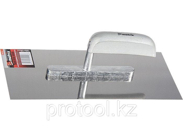 Гладилка из нержавеющей стали, 600 х 130 мм, деревянная ручка// MATRIX