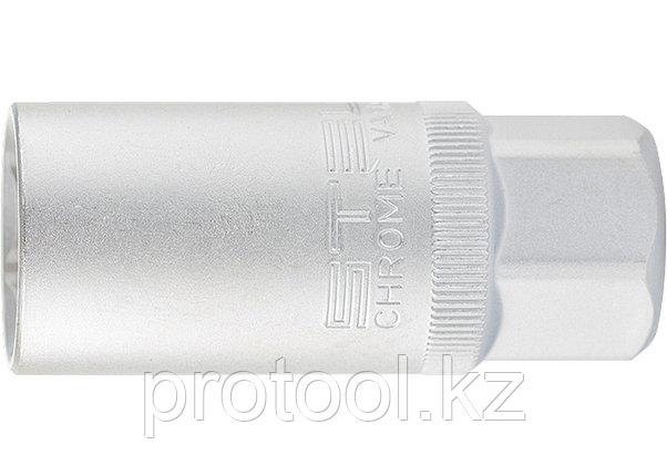 "Головка торцевая свечная, 12-гранная, 21 мм, под квадрат 1/2"" // STELS, фото 2"