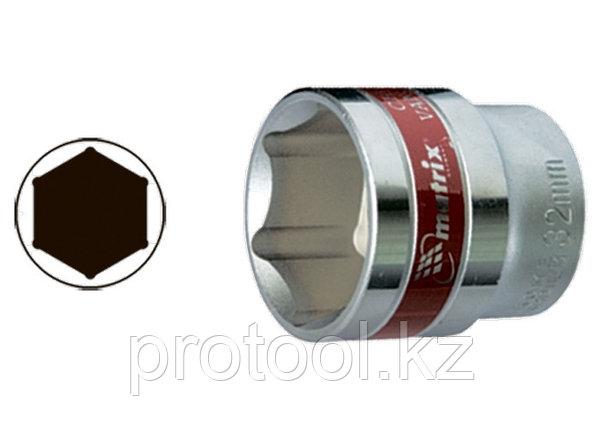 """Головка торцевая, 22 мм, 6-гранная, CrV, под квадрат 1/2"""", хромированная// MATRIX MASTER, фото 2"""