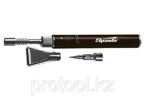 "Горелка газовая, тип ""Карандаш"" + 2 насадки для пайки, 200 мм// SPARTA, фото 2"