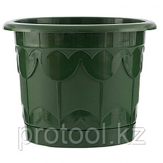 Горшок Тюльпан с поддоном, зеленый, 1,4 л // PALISAD