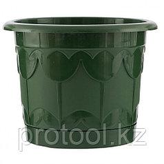 Горшок Тюльпан с поддоном, зеленый, 8,5 л // PALISAD