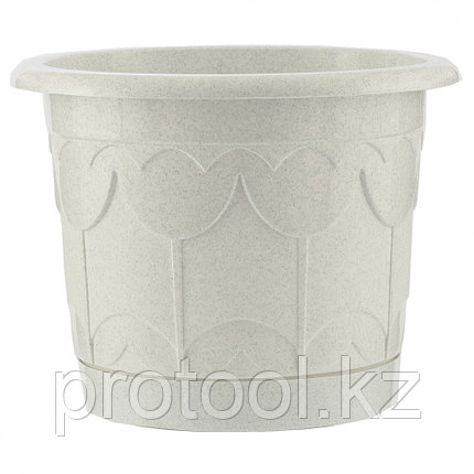 Горшок Тюльпан с поддоном, мрамор, 2,9 л // PALISAD, фото 2