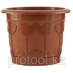 Горшок Тюльпан с поддоном, терракотовый, 6 л // PALISAD