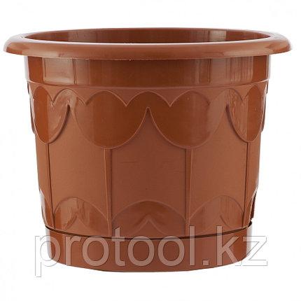 Горшок Тюльпан с поддоном, терракотовый, 6 л // PALISAD, фото 2