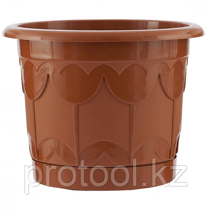 Горшок Тюльпан с поддоном, терракотовый, 8,5 л // PALISAD, фото 2
