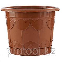 Горшок Тюльпан с поддоном, терракотовый, 2,9 л // PALISAD