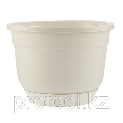 Горшок Флокс с поддоном, белый, 1,5 л // PALISAD, фото 2