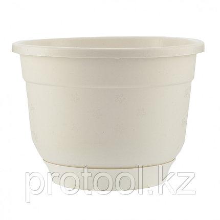 Горшок Флокс с поддоном, белый, 4,2 л // PALISAD, фото 2