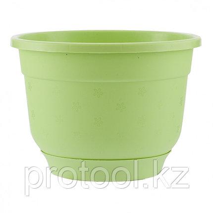 Горшок Флокс с поддоном, салатовый, 4,2 л // PALISAD, фото 2