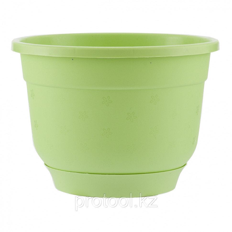 Горшок Флокс с поддоном, салатовый, 5,5 л // PALISAD