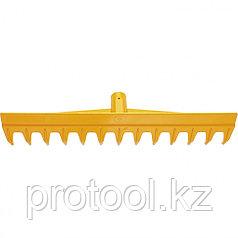 Грабли 13-зубые полипропиленовые с ребрами жесткости без черенка, усиленные// PALISAD LUXE