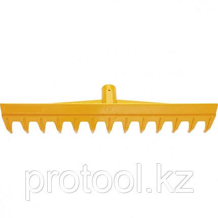 Грабли 13-зубые полипропиленовые с ребрами жесткости без черенка, усиленные// PALISAD LUXE, фото 2